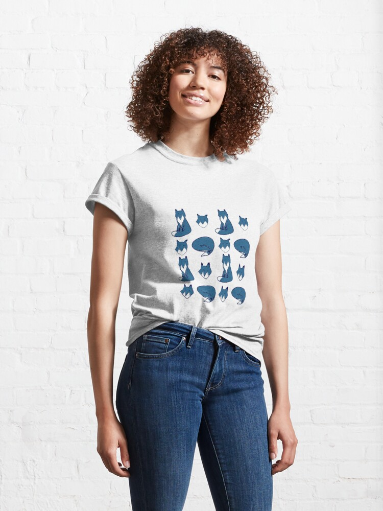 Alternate view of Blue Fox pose Classic T-Shirt