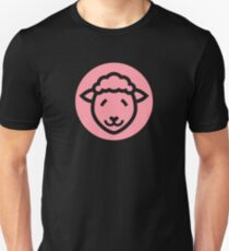 Cute Sheep Icon - in pink T-Shirt