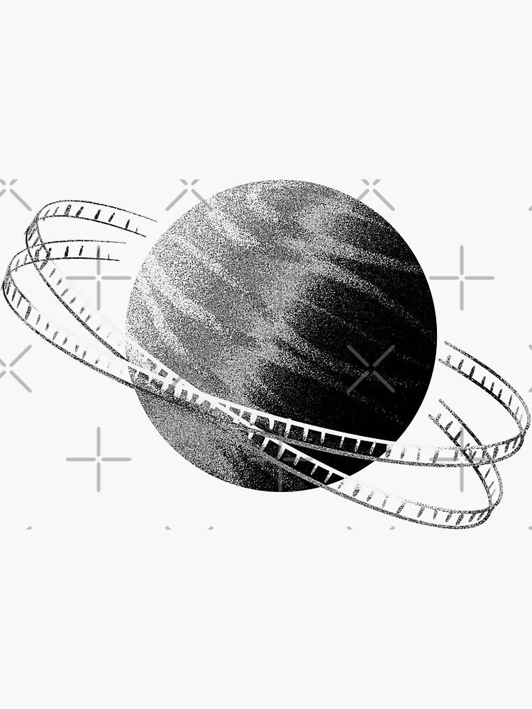 Black & White Saturn Frame by adarovai