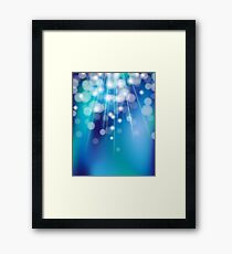 Shiny glowing turquoise background Framed Print