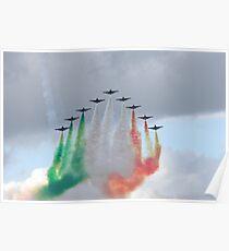 Italian aircraft display team Poster