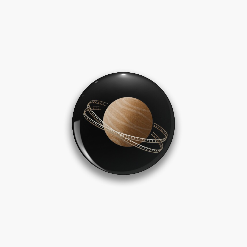 Brown Saturn Film Pin