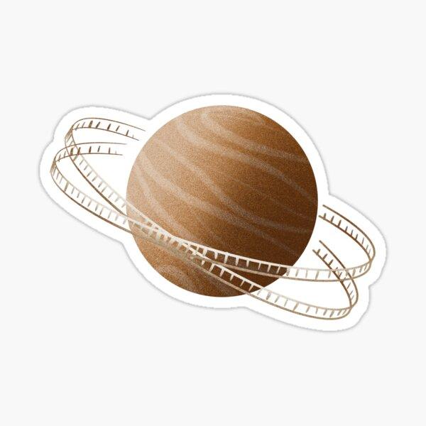 Brown Saturn Film Sticker