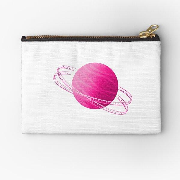 Pink Saturn Film Zipper Pouch