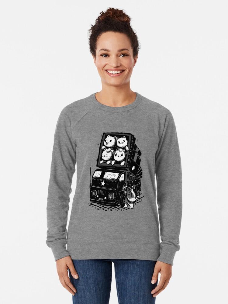 Alternate view of Cat Cats Lightweight Sweatshirt