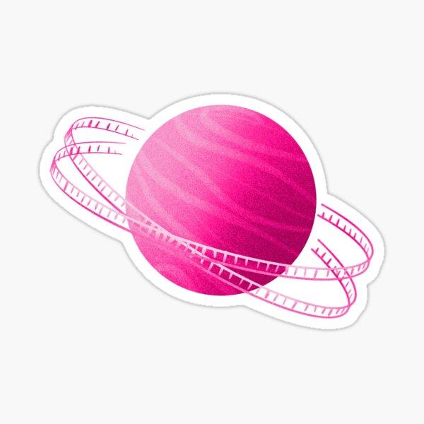 Pink Saturn Film Sticker