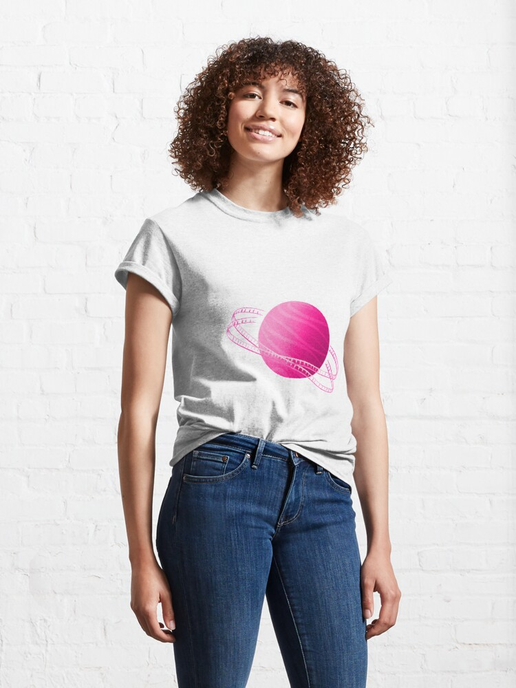 Alternate view of Pink Saturn Film Classic T-Shirt