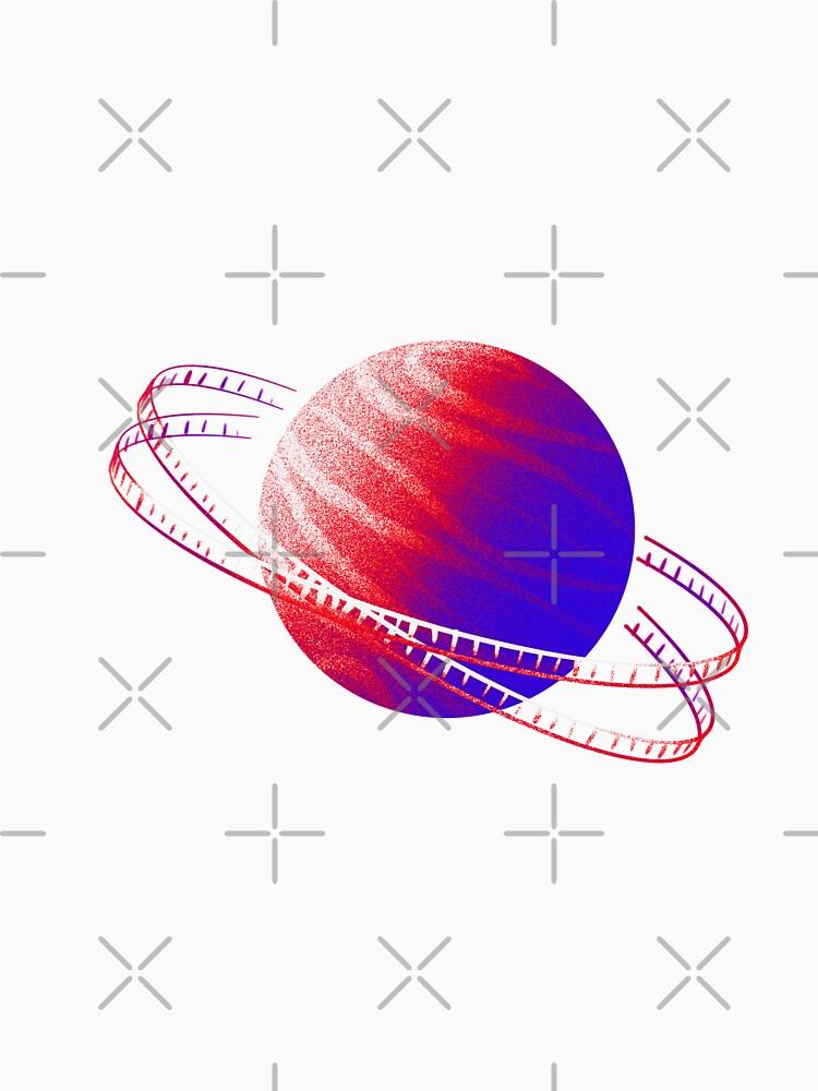 Neon Red & Blue Saturn Film by adarovai
