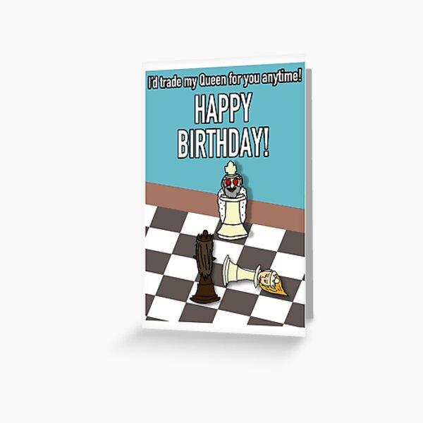 Chess - Happy Birthday Card Greeting Card