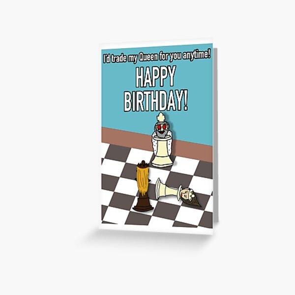 Chess - Happy Birthday Card (Alternate) Greeting Card