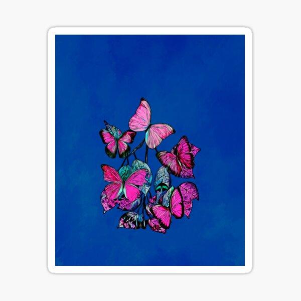 Legakulie Schmetterlinge blau pink Sticker