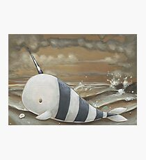 Beached Narwhal Photographic Print