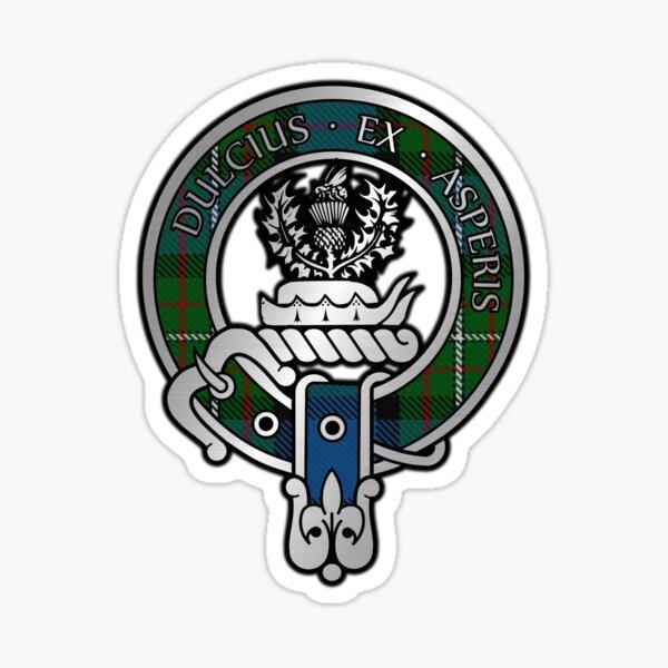 Clan Fergusson Crest & Atholl Tartan Sticker