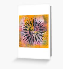 Ancient Sun Greeting Card