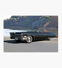 1968 Cadillac DeVille Convertible 'Lakeside' Photographic Print