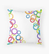 Colourful rings Throw Pillow