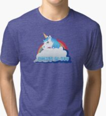 Central Intelligence - Unicorn (Not Faded) Tri-blend T-Shirt