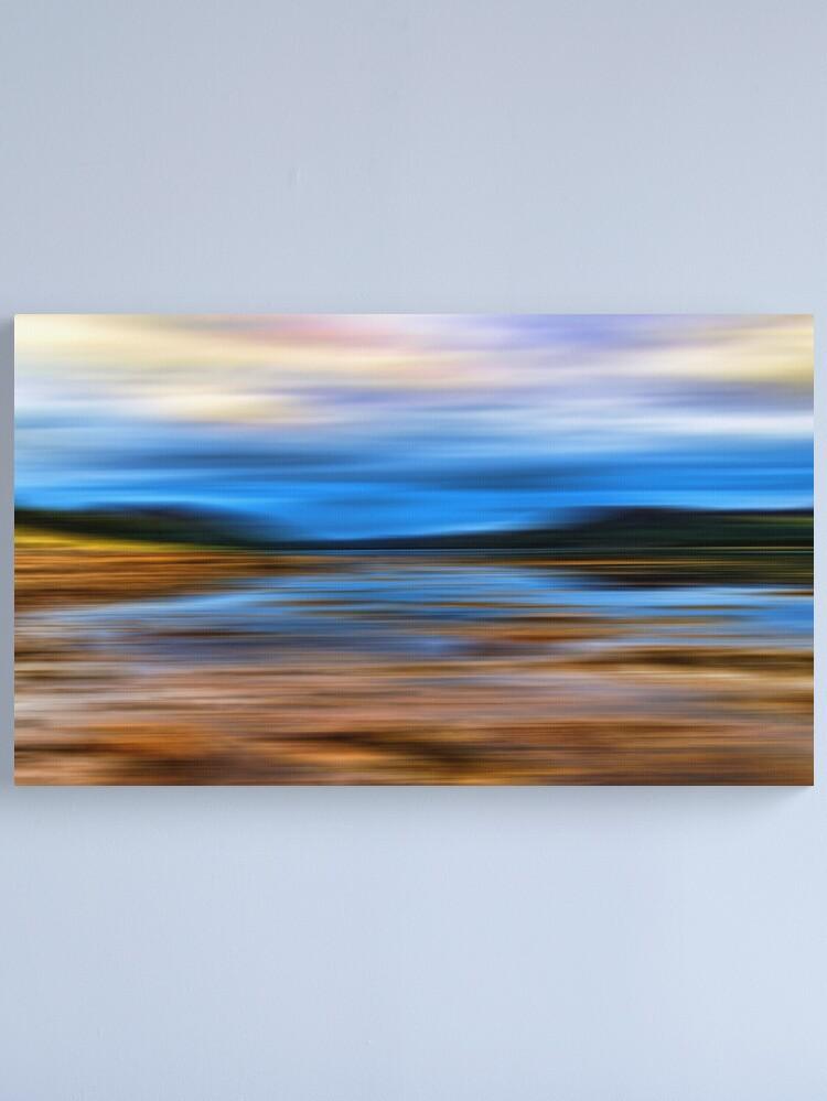Alternate view of Loch at Low Tide(Loch Fleet) Canvas Print