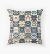 Moroccan Tiles Pattern Throw Pillow