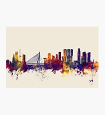 Rotterdam The Netherlands Skyline Photographic Print