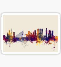 Rotterdam The Netherlands Skyline Sticker