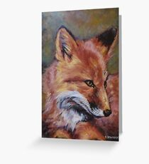 Wildlife Fox Painting by Kathy Greeting Card