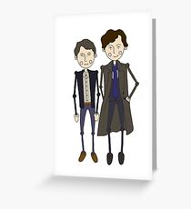 Benedict Cumberbatch's Sherlock inspired design Greeting Card