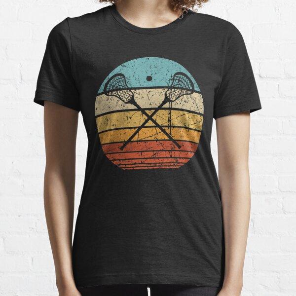 Lacrosse lacrosse stick vintage retro sun Essential T-Shirt