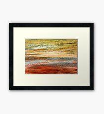 Morning Glow - Oil Pastel Framed Print