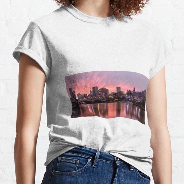 Princes Bridge Sunset, Melbourne Classic T-Shirt
