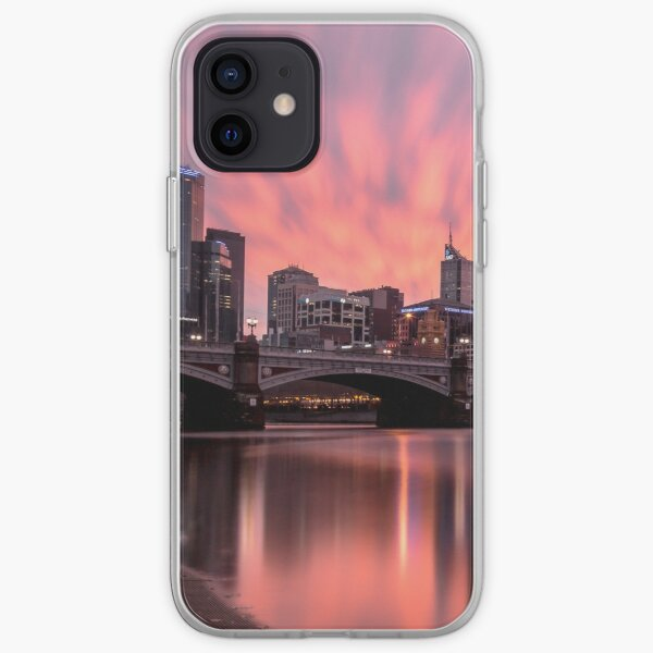 Princes Bridge Sunset, Melbourne iPhone Soft Case