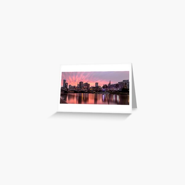 Princes Bridge Sunset, Melbourne Greeting Card