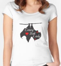Crazy Bat Lady Women's Fitted Scoop T-Shirt