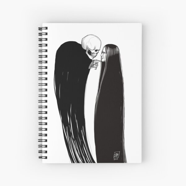 Faced with Death Spiral Notebook