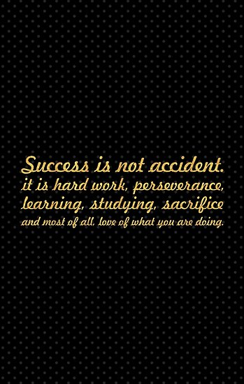 Success Is Not Accident Inspirational Quote Posters By