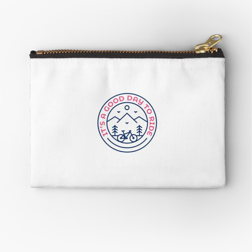 It's a Good Day to Ride Zipper Pouch