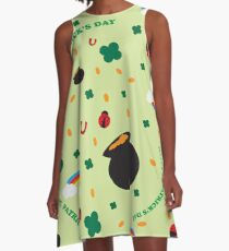 SW Shamrock Pattern A-Line Dress