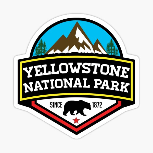 YELLOWSTONE NATIONAL PARK WYOMING BEAR 1872 HIKING CAMPING CLIMBING Sticker