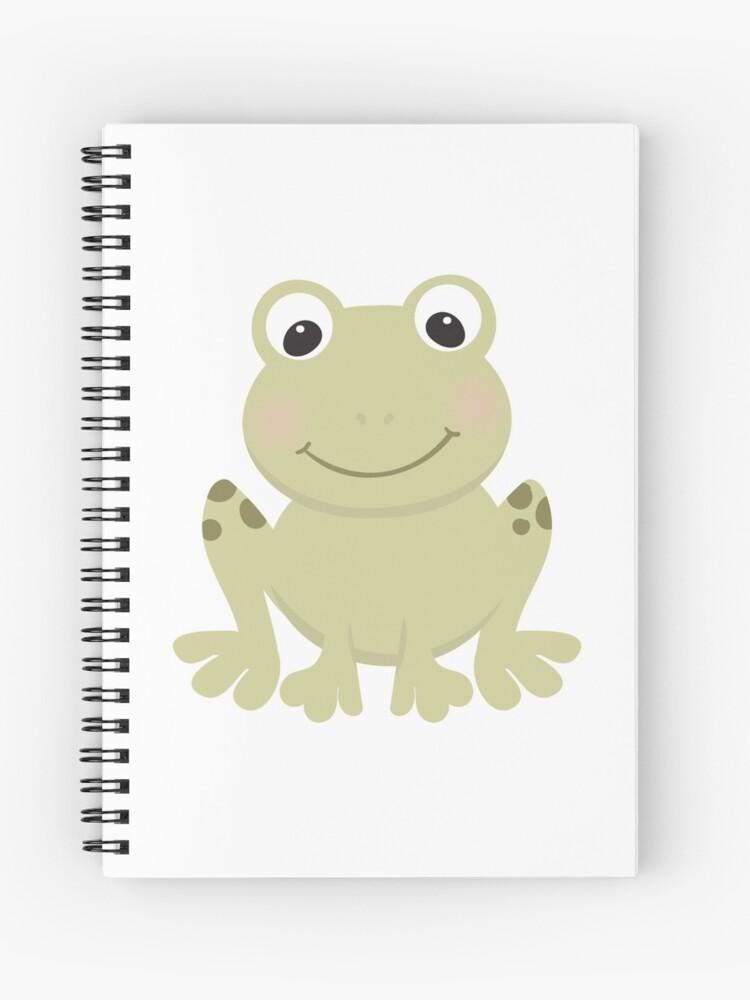 Cuaderno De Espiral Rana De Dibujos Animados De Thebeststore