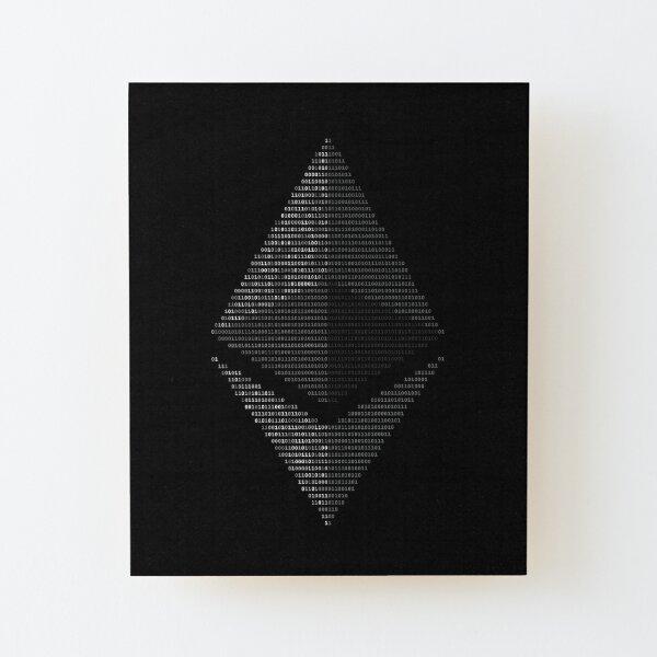 Ethereum Binary Lámina montada de madera