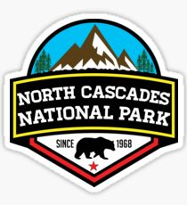 NORTH CASCADES NATIONAL PARK WASHINGTON BEAR 1968 HIKING CAMPING CLIMBING Sticker