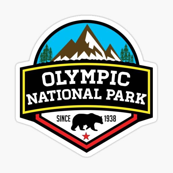OLYMPIC NATIONAL PARK WASHINGTON BEAR 1938 HIKING CAMPING CLIMBING Sticker