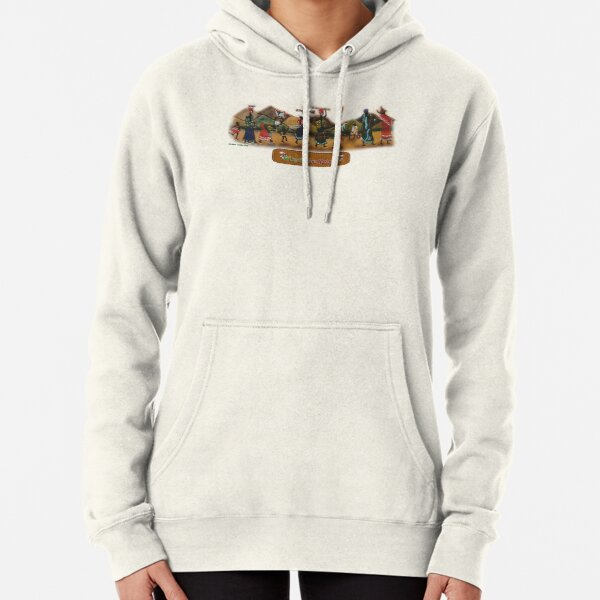 African procession - in leather Pullover Hoodie
