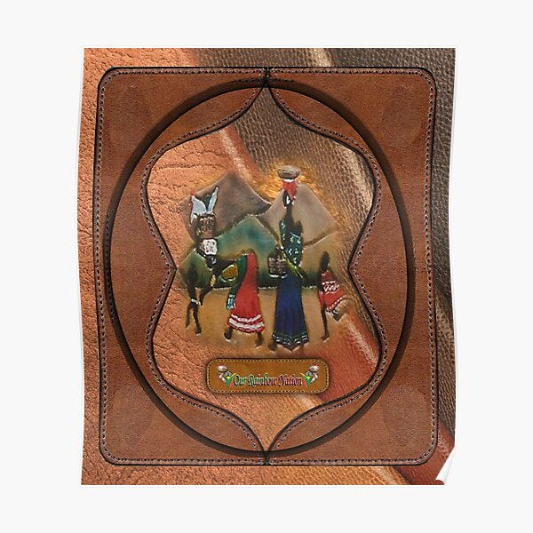 African procession - in leather Poster