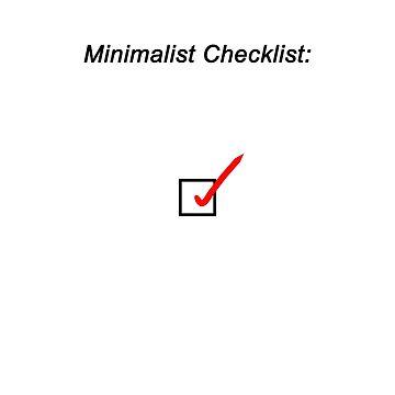 Minimalist Checklist by Lucasman