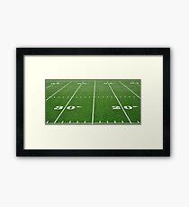 Football Field Hash Marks Framed Print