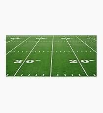 Football Field Hash Marks Photographic Print