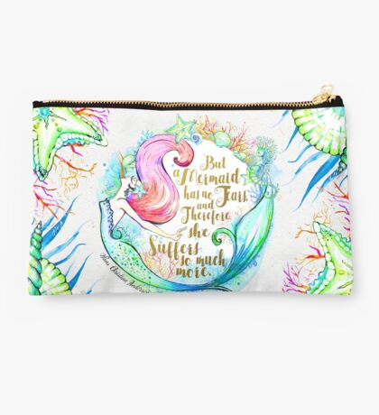 But A Mermaid Has No Tears Studio Pouch