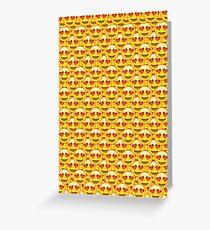 Heart Eyes Emoji Collage Greeting Card