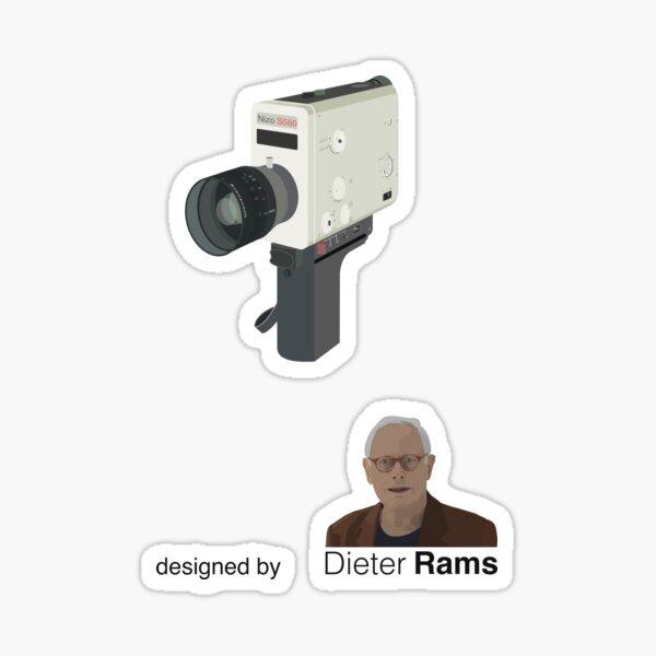 Iconic Braun Nizo Super 8 film camera designed by Dieter Rams Sticker
